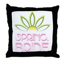 Spring Bride Throw Pillow