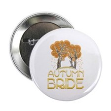 "Fall Autumn Bride 2.25"" Button (10 pack)"