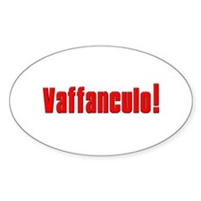 Vaffanculo! Oval Decal