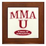 MMA School Of Hard Knocks Framed Tile