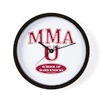 MMA Fighter School Of Hard Knocks Wall Clock