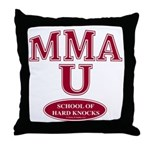 MMA School Of Hard Knocks Throw Pillow