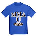MMA School Of Hard Knocks Kids Blue T-Shirt