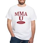 MMA School Of Hard Knocks White T-Shirt