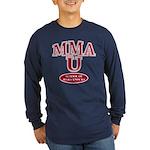MMA School Of Hard Knocks Long Sleeve Navy T-Shirt