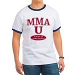 MMA School Of Hard Knocks Navy Ringer T-shirt