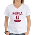 MMA School Of Hard Knocks Women's V-Neck T-Shirt