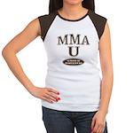 MMA School Of Hard Knocks Brown Cap Sleeve Tee