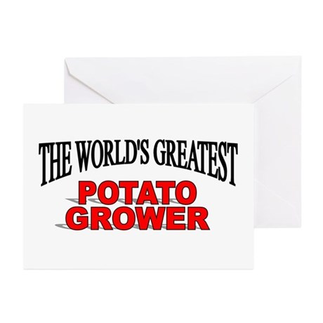 """""""The World's Greatest Potato Grower"""" Greeting Card"""