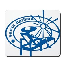 Santa Barbara Passport Stamp Mousepad