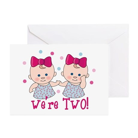 We're Two Girls Greeting Cards (Pk of 10)