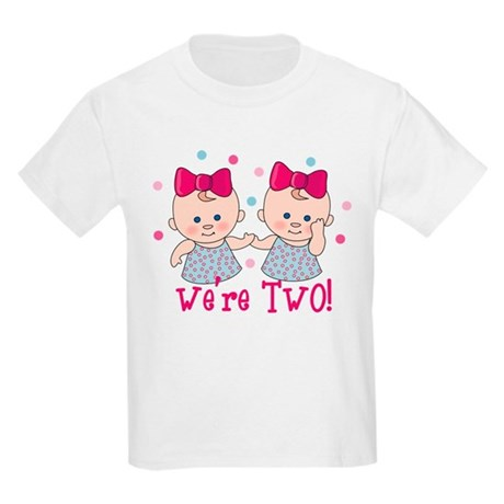 We're Two Girls Kids Light T-Shirt