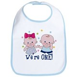 We're One Boy & Girl Bib