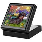 Wire Haired Dachshund Fantasy Keepsake Box