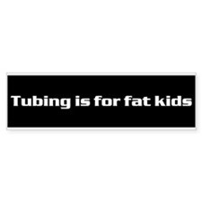 Cute Skiing kids Bumper Sticker