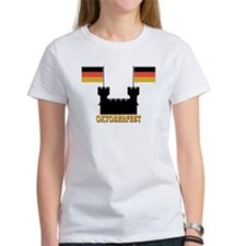 Oktoberfest Castle w/Flags Tee