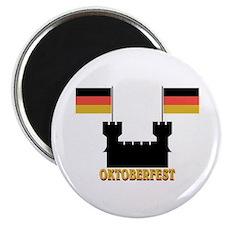 "Oktoberfest Castle w/Flags 2.25"" Magnet (10 pack)"