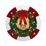 """Poker Wreath"" $100 Chip Ornament"
