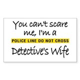 Detective's wife Rectangle Decal