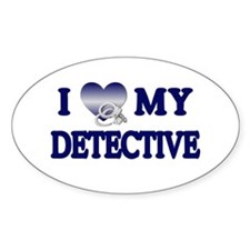 Love My Detective Oval Decal