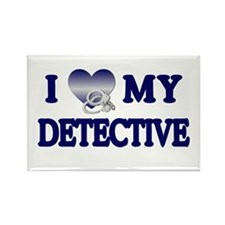 Love My Detective Rectangle Magnet