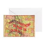 Flat Colorado Greeting Card