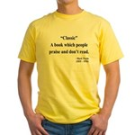 Mark Twain 25 Yellow T-Shirt