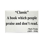 Mark Twain 25 Rectangle Magnet (10 pack)
