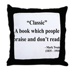 Mark Twain 25 Throw Pillow