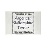 Am Staff Security Rectangle Magnet