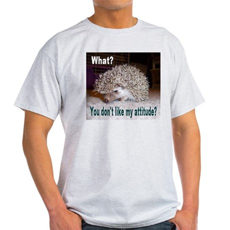 My Attitude Hedgehog Ash Grey T-Shirt
