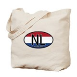 Netherlands Oval Colors Tote Bag