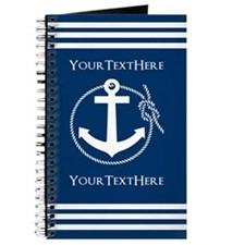 Nautical Anchor Personalized Journal