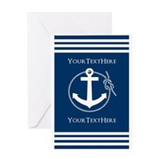 Nautical Anchor Personalized Greeting Card