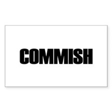 COMMISH Rectangle Decal