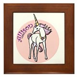 Allison Unicorn Framed Tile