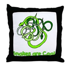 Snakes are Cool Throw Pillow