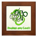 Snakes are Cool Framed Tile