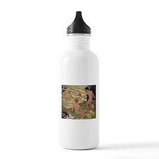 swimming art Water Bottle