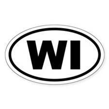 Basic Wisconsin Oval Decal