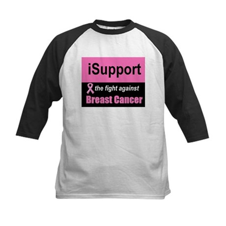 Fight Against Breast Cancer Kids Baseball Jersey