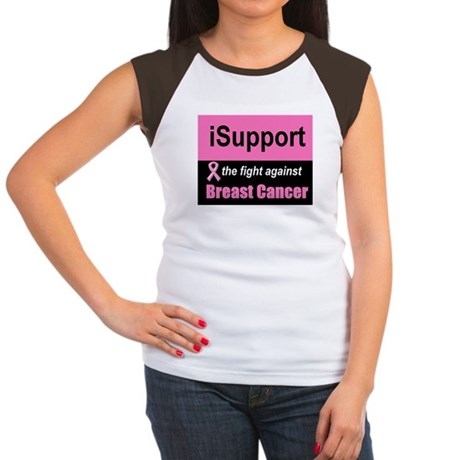 Fight Against Breast Cancer Women's Cap Sleeve T-S