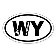 Wyoming Bronco Oval Decal