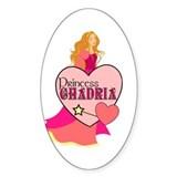 Princess Chadria Oval Decal