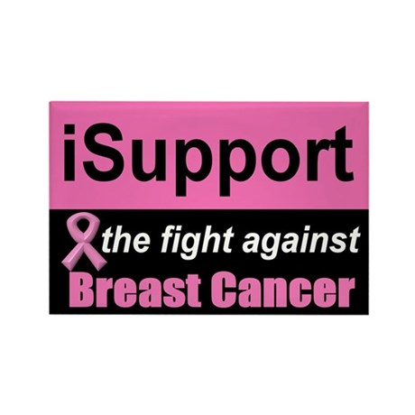 Fight Against Breast Cancer Rectangle Magnet