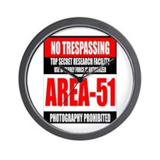 AREA-51 Wall Clock