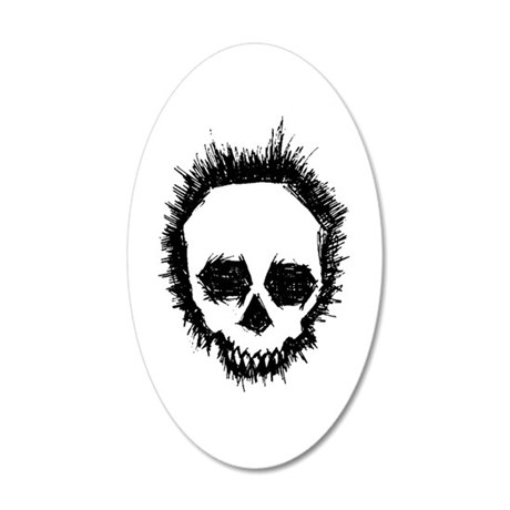 Psycho 20x12 Oval Wall Decal