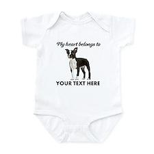 Personalized Boston Terrier Infant Bodysuit