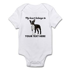 Personalized Boston Terrier Infant Bodysuit