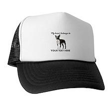 Personalized Boston Terrier Trucker Hat